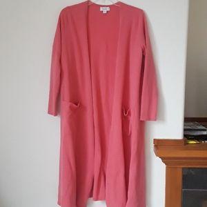 Lularoe medium pink cardigan with pockets